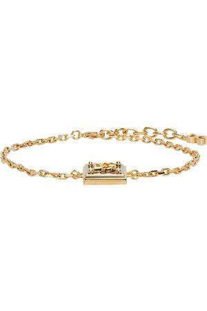 Dolce & Gabbana Uomo Bracciali - Gold & Silver Logo Pendant Bracelet