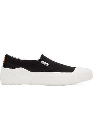 Kenzo Donna Sneakers - Black Tiger Crest Slip-On Sneakers