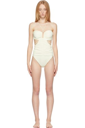 Magda Butrym Donna Costumi interi - Off-White Strappy Cut-Out Bandeau One-Piece Swimsuit