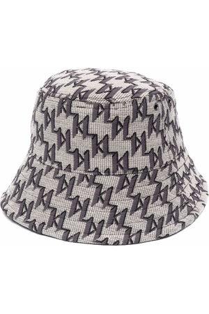 Karl Lagerfeld Uomo Cappelli - Cappello bucket K/Monogram - Toni neutri