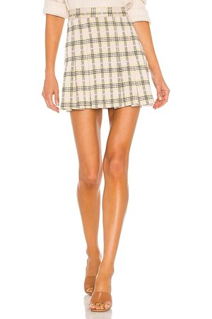 Free People Honey Pleated Skirt in - Neutral. Size 0 (also in 2, 4, 6, 8, 10, 12).