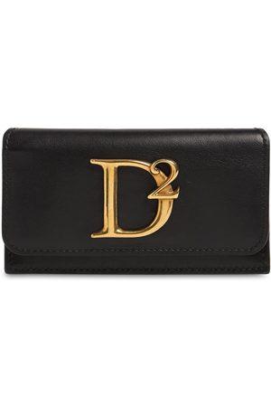 Dsquared2 Porta Carte Di Credito D2 Statement In Pelle