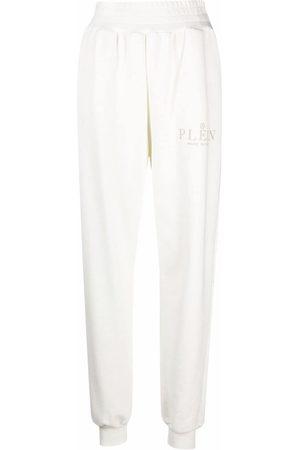 Philipp Plein Donna Pantaloni sportivi - Pantaloni sportivi Iconic Plein a vita alta - Toni neutri