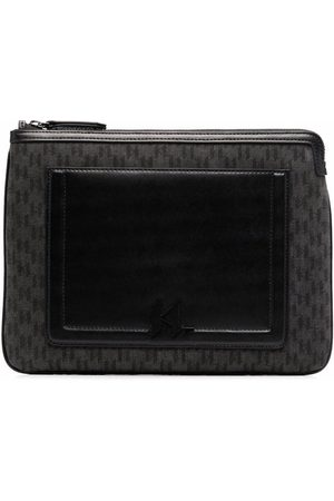 Karl Lagerfeld Custodia iPad con monogramma