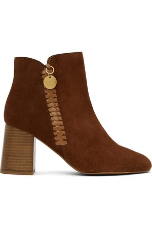 See by Chloé Donna Stivali - Tan Suede Louise Heeled Boots
