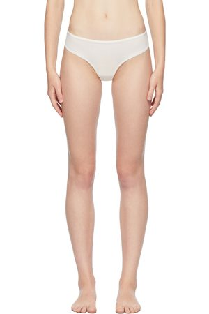 SKIMS Donna Perizomi - White Fits Everybody Dipped Front Thong