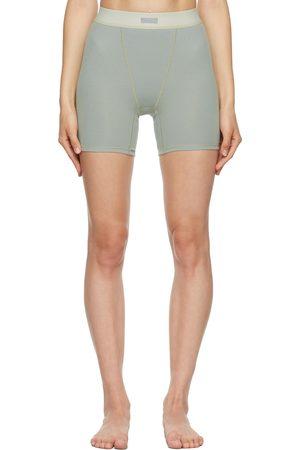 SKIMS Grey Cotton Rib Boxer Shorts