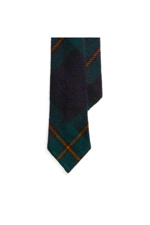 Polo Ralph Lauren Cravatta sottile in lana tartan