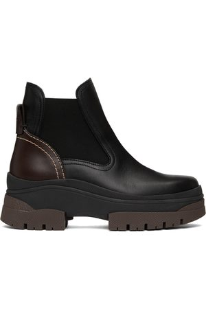 See by Chloé Donna Stivali - Black & Brown Cassidie Chelsea Boots