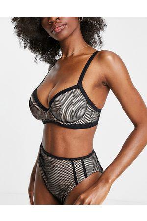 ASOS Donna Bikini - Coppe Grandi - Top bikini e visone con ferretto e finiture a contrasto