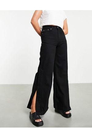 Dr Denim Dylan - Jeans con fondo ampio neri