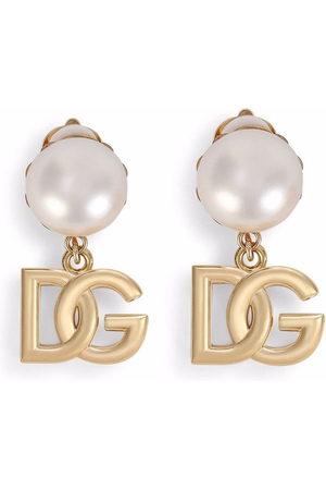 Dolce & Gabbana Uomo Orecchini - Orecchini a clip con logo DG