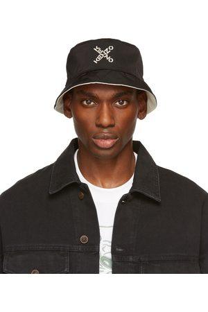 Kenzo Uomo Cappelli - Reversible Black & White Sport Bucket Hat