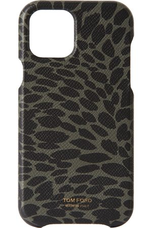 Tom Ford Cellulare - Green & Black Animal Print iPhone 12 Pro Case