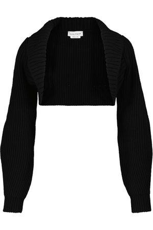Alexander McQueen Coprispalle in lana e cashmere