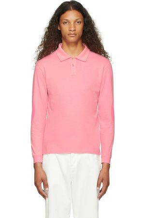 ERL Uomo Top - Pink Rugby Long Sleeve T-Shirt