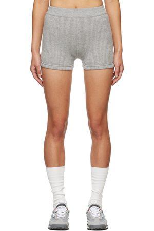 Thom Browne Donna Mutante Shorts - Grey Cashmere Rib Brief Boy Shorts