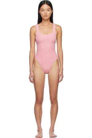 Hunza G Donna Costumi interi - Pink Square Neck Nile One-Piece Swimsuit