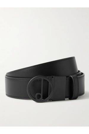 Dunhill 3.5cm Reversible Logo-Print Coated-Canvas and Leather Belt