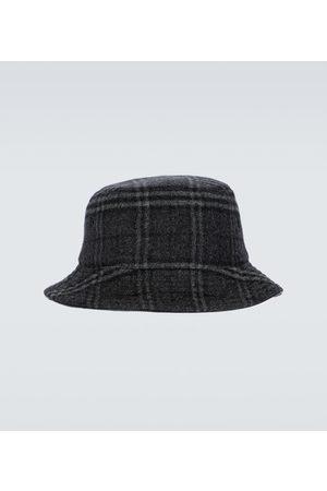 Burberry Cappello da pescatore in lana e cashmere