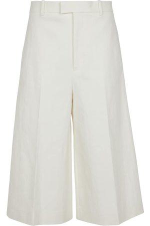 Bottega Veneta Donna Pantaloncini - Pantaloni culottes in lino