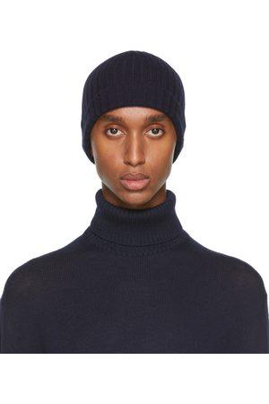 Jil Sander Uomo Berretti - Navy Knit Wool Beanie
