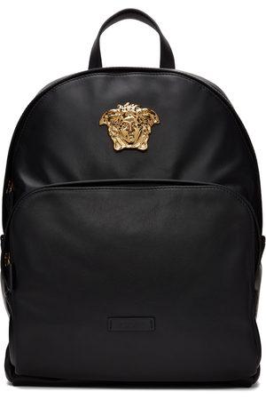 VERSACE Donna Zaini - Black Leather 'La Medusa' Backpack