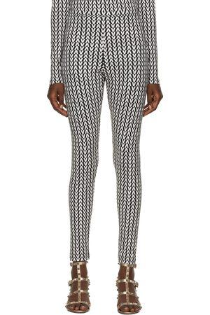VALENTINO Donna Leggings & Treggings - Black & White Optical Leggings