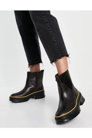 Timberland Donna Stivaletti - Malynn - Stivali foderati con zip laterale color castagna