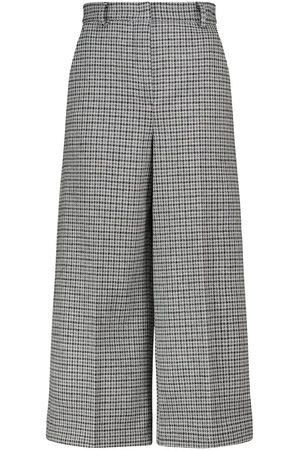 Max Mara Pantaloni culottes Balocco in lana a quadri