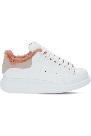 Alexander McQueen Sneakers In Pelle Con Shearling 45mm