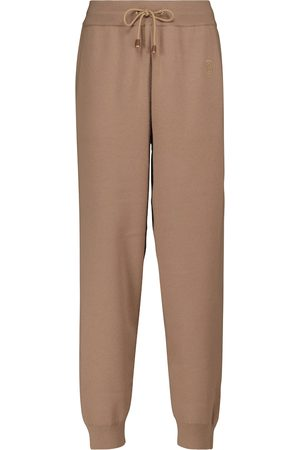 Burberry Donna Eleganti - Pantaloni sportivi in lana e cashmere