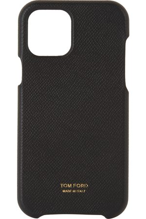 TOM FORD Black Grained Leather iPhone 12 Case