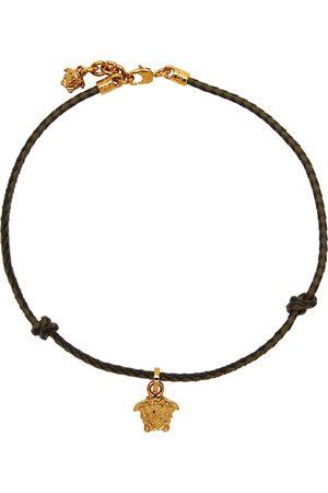 VERSACE Uomo Collane - Black & Brown Braided Medusa Necklace