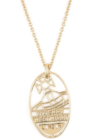 Vivienne Westwood Collana a catena con placca logo