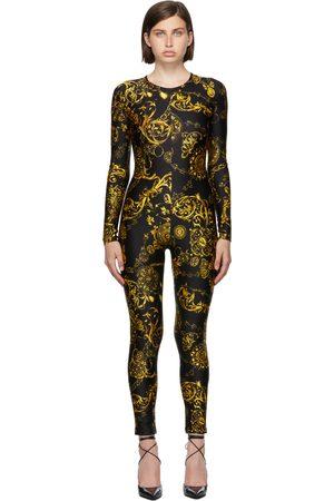 Versace Jeans Couture Donna Tute e salopette - Black & Gold Regalia Baroque Jumpsuit