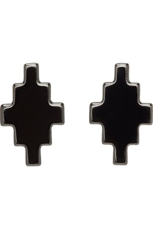 Marcelo Burlon County of Milan Uomo Orecchini - Gunmetal Cross Earrings