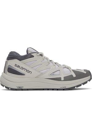Salomon Off-White & Grey Odyssey Mid Advanced Sneakers