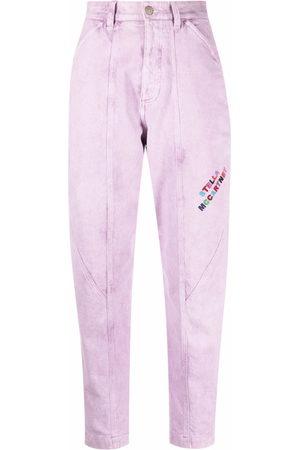 Stella McCartney Donna Affusolati - Jeans affusolati con ricamo