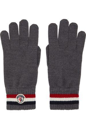 Moncler Uomo Guanti - Grey Wool Stripe Gloves