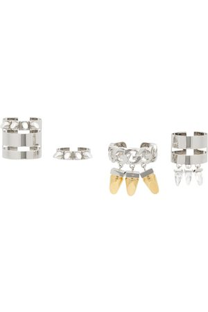 Givenchy Uomo Anelli - Silver G-Stud Ring Set