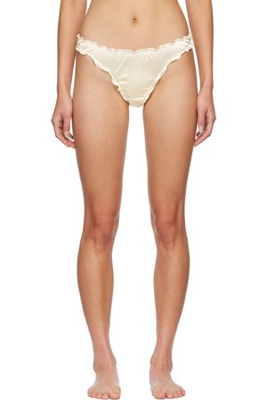 softandwet SSENSE Exclusive Off-White Frilled Thong
