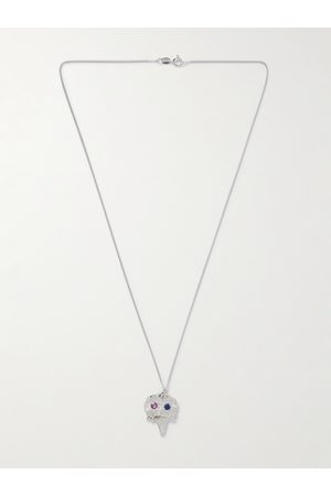 Bleue Burnham Uomo Collane - The Bouquet Sterling and Sapphire Pendant Necklace
