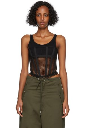 Dion Lee Donna Corsetti - Net Lace Suspended Corset