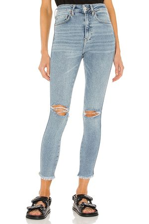 Free People High Rise Jegging in - Blue. Size 24 (also in 25, 27, 28, 29, 31, 32, 26, 30).