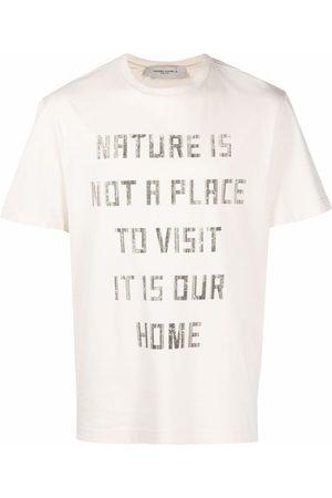 Golden Goose Uomo T-shirt - T-shirt con stampa - Toni neutri