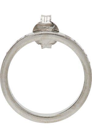 Maison Margiela Silver Circle Number Logo Single Earring