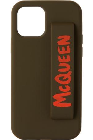 Alexander McQueen Green & Orange Graffiti iPhone 12 Pro Case