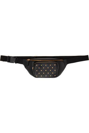 Versace Black Medusa Stud Belt Bag