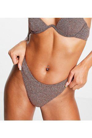 South Beach Slip bikini sgambati rosa metallico